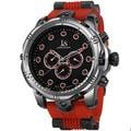 Joshua & Sons Men's Multifunction Swiss Quartz Rubber Red Strap Watch