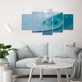 Nicola Lugo 'Surf' Canvas Wall Art (5-piece)