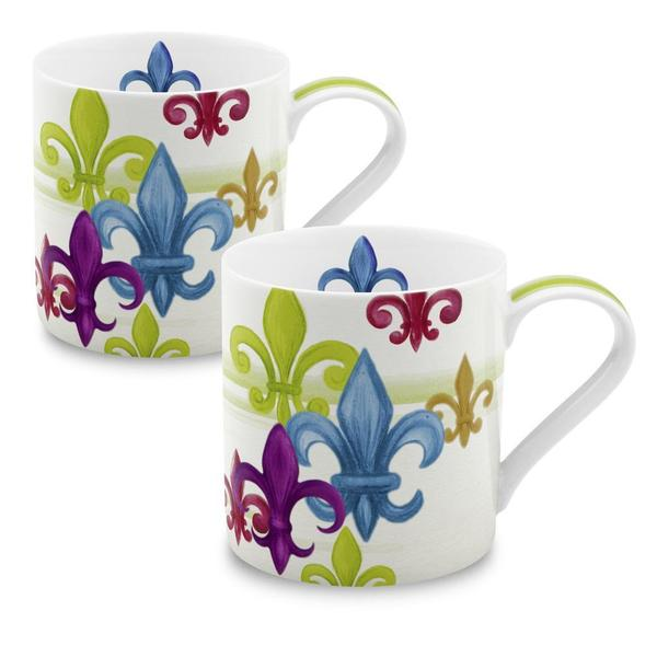 Konitz Fleur de Lis Mug (Set of 2) 13045790
