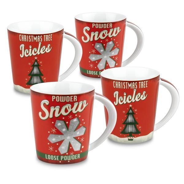 Konitz Vintage Christmas Mugs (Set of 4)