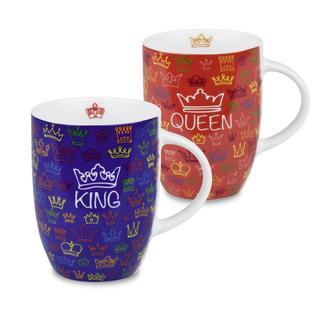 Konitz Royal Family King and Queen Mugs (Set of 2)