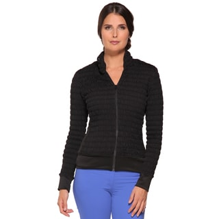 Women's Morgan Ruched Black Jacket