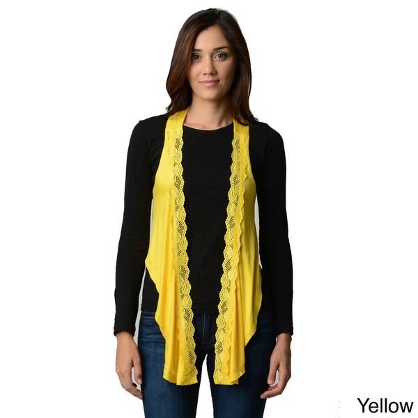 Stanzino Women's Lace Detailed Sleeveless Vest