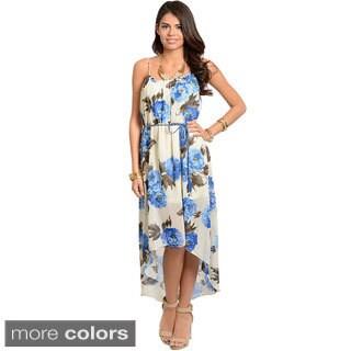 Stanzino Women's Floral Chiffon High-low Dress