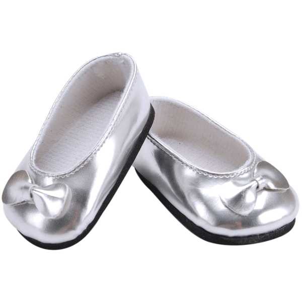 Springfield Collection Ballet Slippers-Silver
