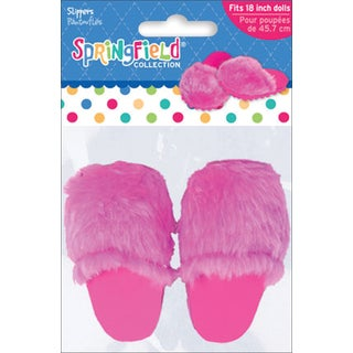 Springfield Collection Fur Slippers in Pink