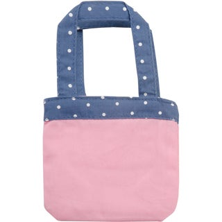 Springfield Collection Tote Bag-Pink W/Purple Straps