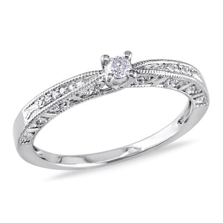 Haylee Jewels Sterling Silver Diamond Promise Ring (H-I,I2-I3)