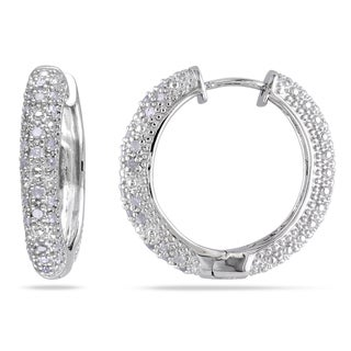 Miadora OS34201 Diamond Hoop Earrings