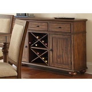 Robyn Server with Distressing and Wine Storage