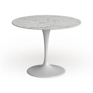 "Lippa Marble Top 40"" Dining Table in White"