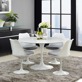 "Lippa Wood Top 47"" Dining Table in White"