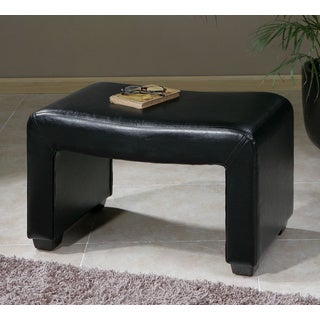 Pepina Black Faux Leather Bench
