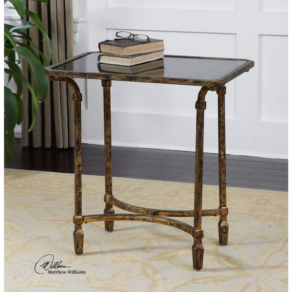 Uttermost Zion Iron End Table