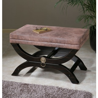 Hartman Pink Taupe Faux Leather Bench