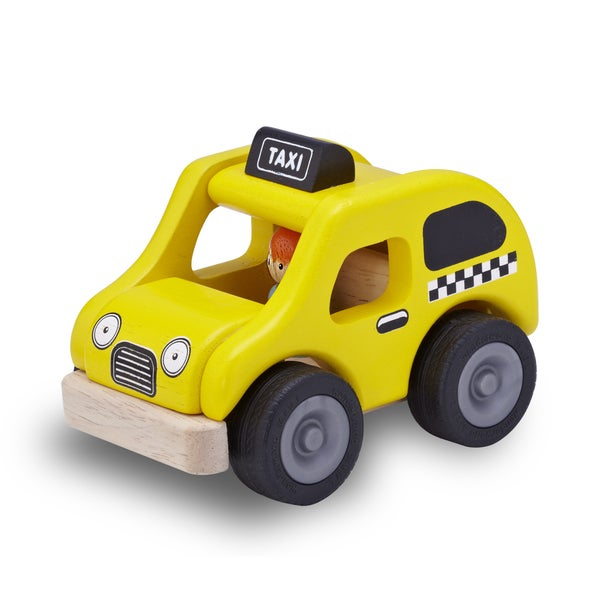 Mini Yellow Cab Toy Vehicle