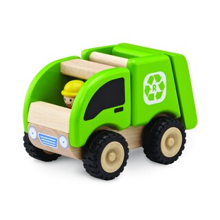 Mini Recycling Truck Wooden Toy