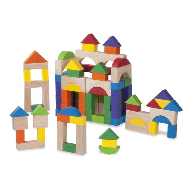 Wonderworld Toys 100-piece Wooden Block Set