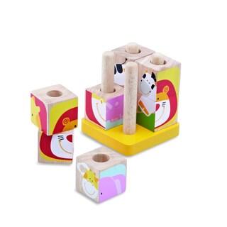 Safari Cubes Wooden Toy Set