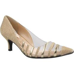Women's J. Renee Moira Gold Glitter Fabric/Vinyl