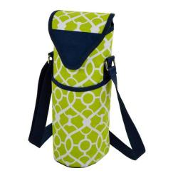 Picnic at Ascot Single Bottle Tote 13in Trellis Green