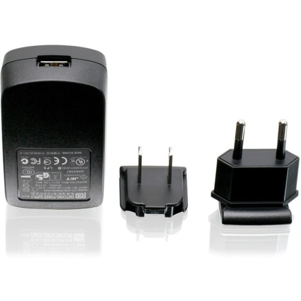 Iogear 1A USB Power Adapter w/US & EU Plugs