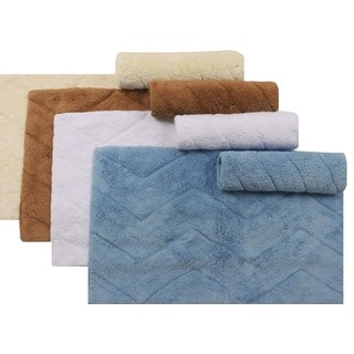 Nautica Chevron Cotton 2-piece Bath Rug Set