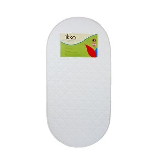 Ikko Small Oval Bassinet Mattress Pad in White