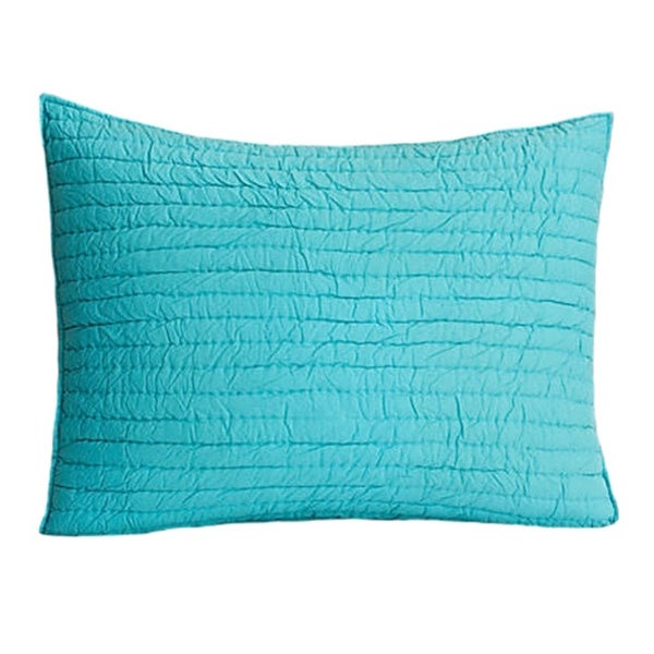 Brighton Teal Cotton Quilted Sham
