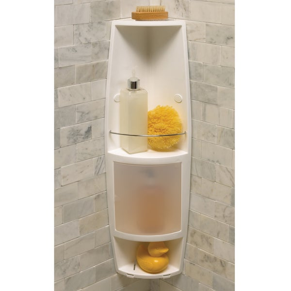 tension shower caddy by axis shower 2 shelf corner caddy overstock