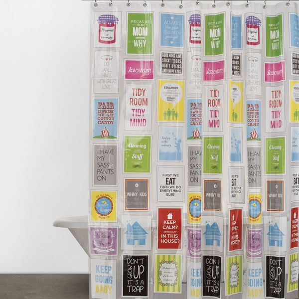 Family Rules PEVA Shower Curtain