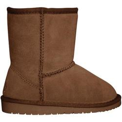 Children's Dawgs Cow Suede Boots Chestnut