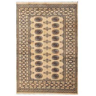 Herat Oriental Pakistani Hand-knotted Bokhara Beige/ Tan Wool Area Rug (4'1 x 6')