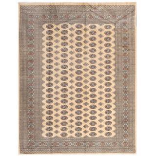 Herat Oriental Pakistani Hand-knotted Bokhara Red/ Grey Wool Rug (8' x 10')