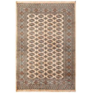Herat Oriental Pakistani Hand-knotted Bokhara Beige/ Tan Wool Rug (5'5 x 8'1)