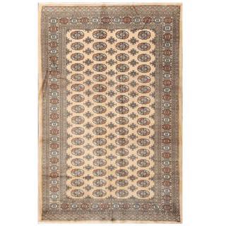 Herat Oriental Pakistani Hand-knotted Bokhara Beige/ Tan Wool Rug (5'3 x 7'11)