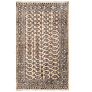 Herat Oriental Pakistani Hand-knotted Bokhara Beige/ Tan Wool Rug (4'11 x 8')