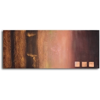 Hand-painted 'Fade to Gold' Oil Painting