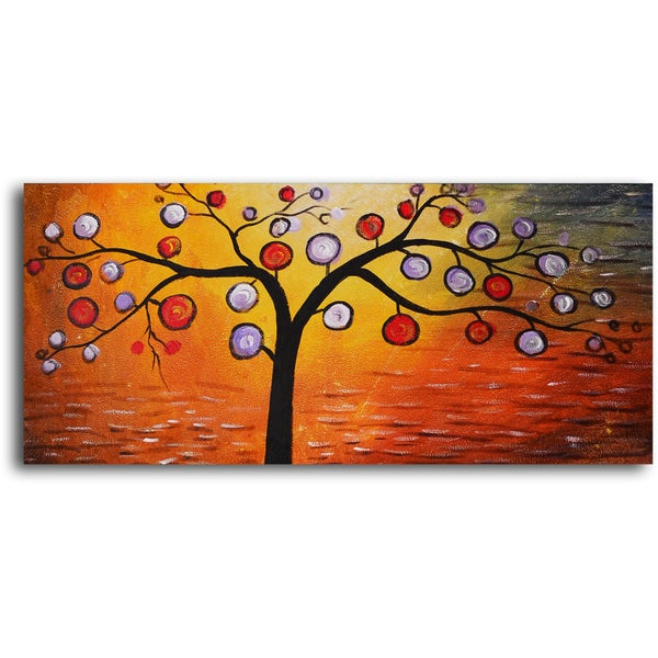 Hand-painted 'Lolly Pop Tree' Oil Painting