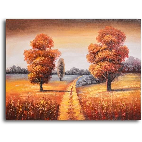 Hand-painted 'Off-roading in Fall' Oil Painting 13051826