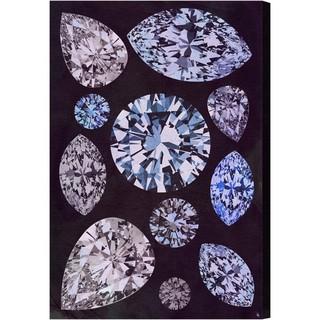 Oliver Gal 'Violet Stones' Canvas Art