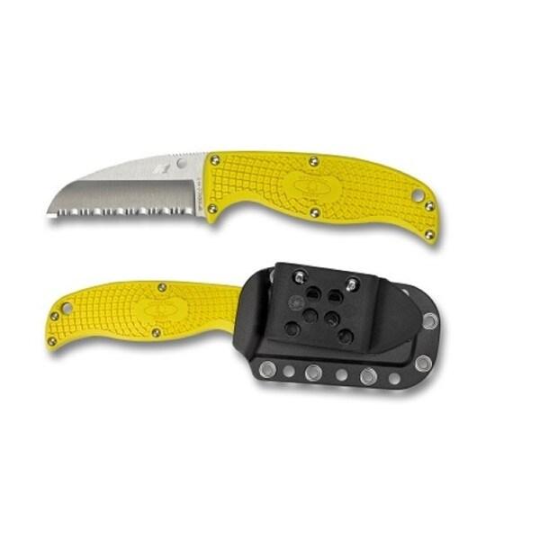 Spyderco Enuff Salt Lightweight Yellow H1 Sheepfoot Knife