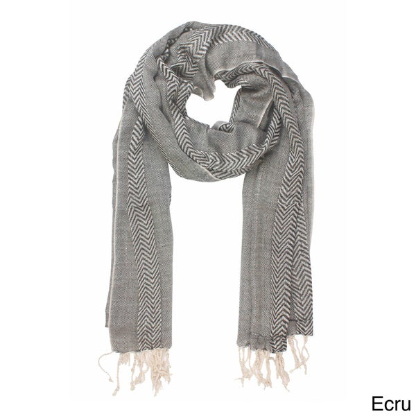 In-Sattva Zig-zag Patterned Stripe Scarf (India)