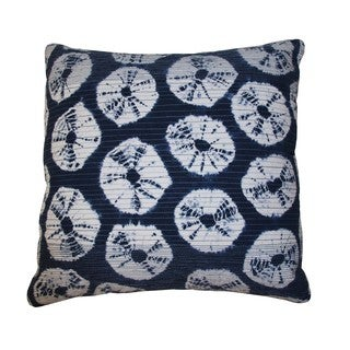 18 x 18-inch Japanese Rings Indigo Decorative Throw Pillow