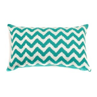 12 x 20-inch Turquoise Zig-zag Decorative Throw Pillow