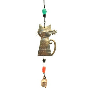 Handmade Kitten Wind Chime (India)
