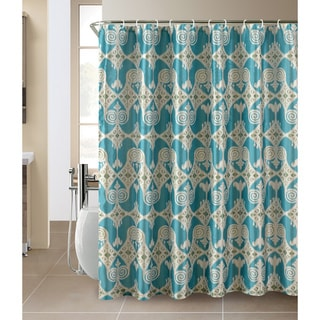 Iris Shower Curtain and Hook Set
