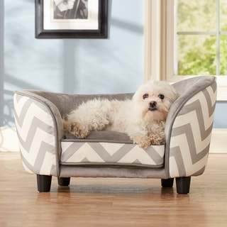 Ultra Plush Chevron Snuggle Furniture Pet Bed
