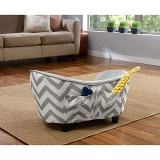 Enchanted Home Pet Ultra Plush Chevron Snuggle Furniture Pet Bed