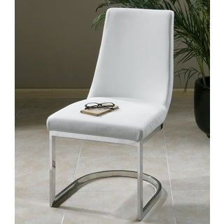 Xantina White Faux Leather Accent Chair